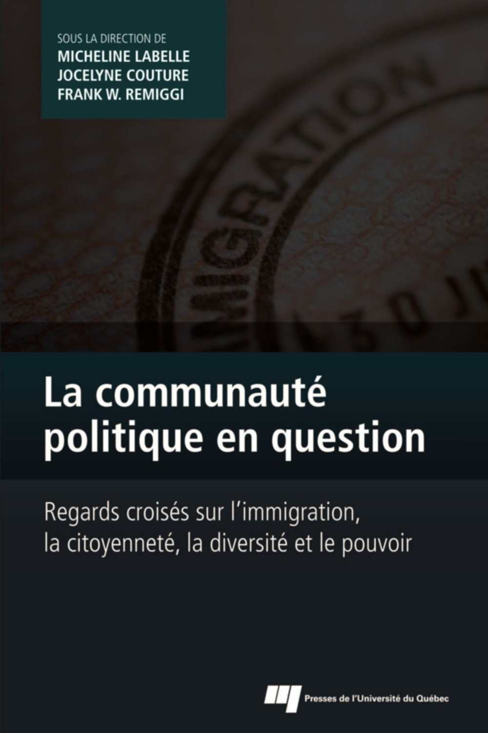 La communauté politique en question