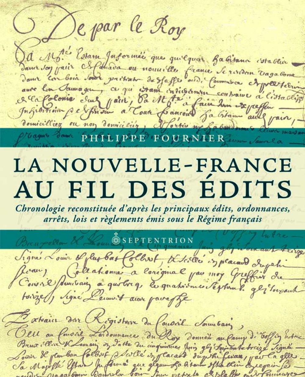 La Nouvelle-France au fil des Édits