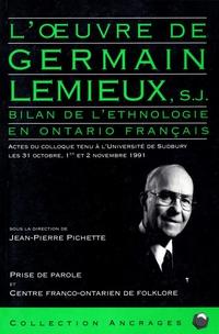 L'Oeuvre de Germain Lemieux...