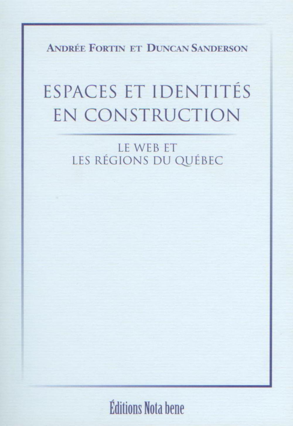 ESPACES ET IDENTITES EN CONSTRUCTION