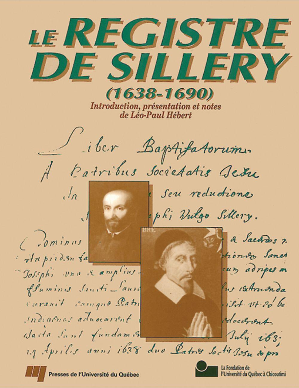 Le registre de Sillery (1638-1690)