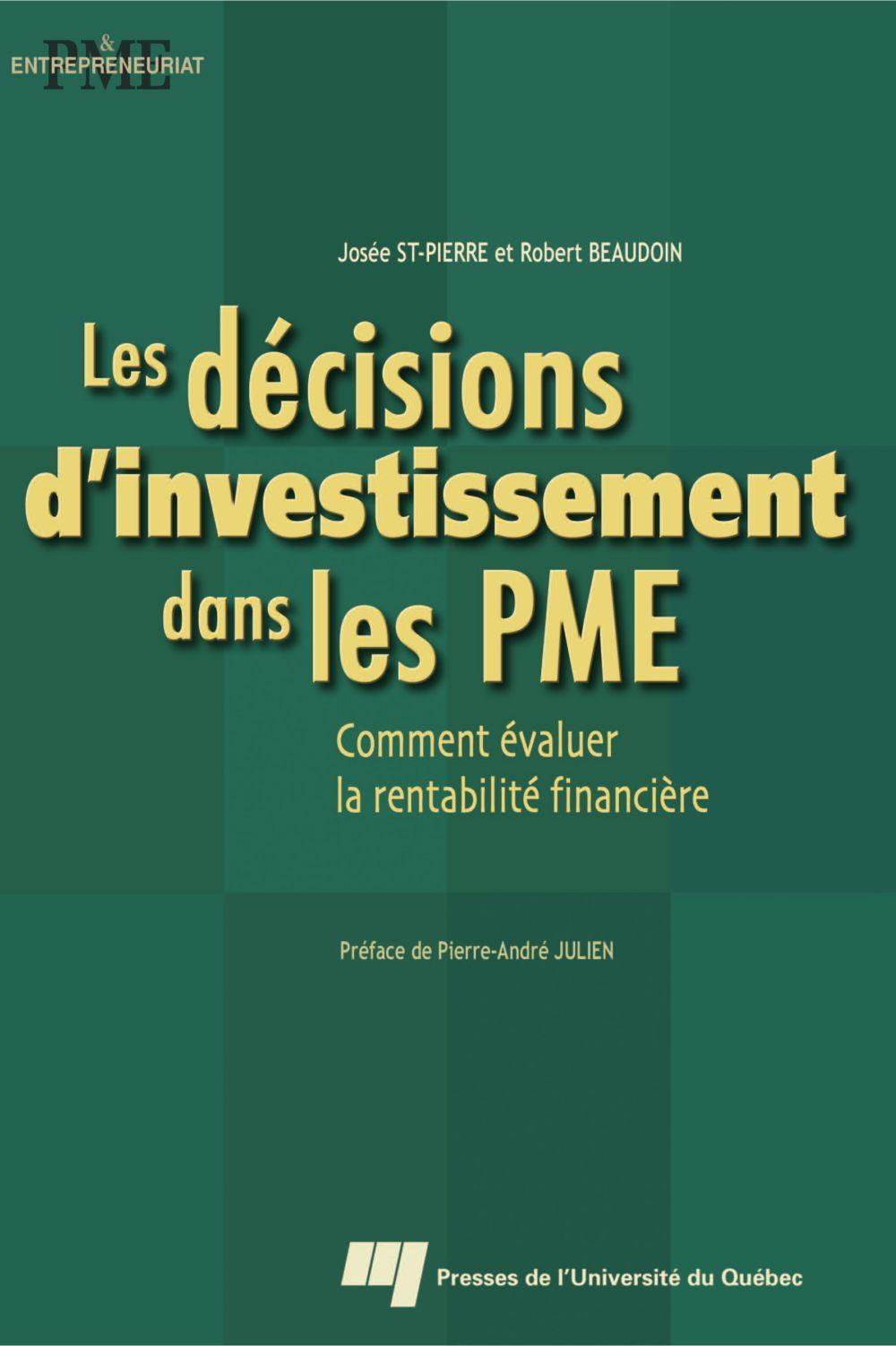 Les décisions d'investissement dans les PME