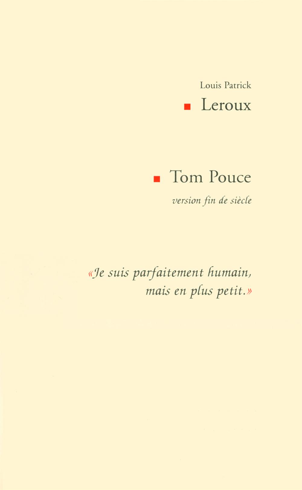 TOM POUCE VERSION FIN DE SIECLE
