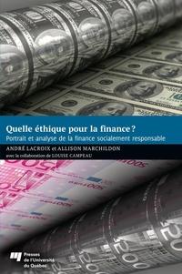 Quelle éthique pour la finance?