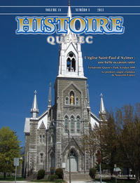Histoire Québec. Vol. 18 No. 3,  2013