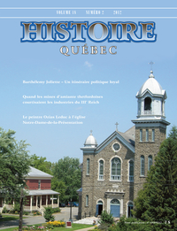 Image de couverture (Histoire Québec. Vol. 18 No. 2,  2012)