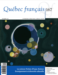 Cover image (Québec français. No. 167, Automne 2012)