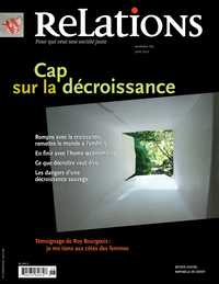 Image de couverture (Relations. No. 765, Juin 2013)