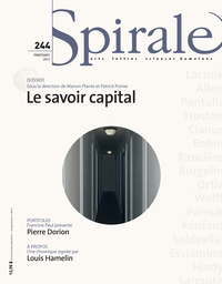 Image de couverture (Spirale. No. 244, Printemps 2013)