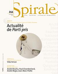 Spirale. No. 246, Automne 2013