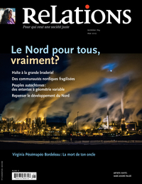 Image de couverture (Relations. No. 764, Avril-Mai 2013)