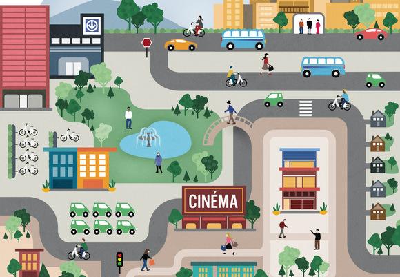 La ville du 21e siècle : sans voitures et fonctionnelle