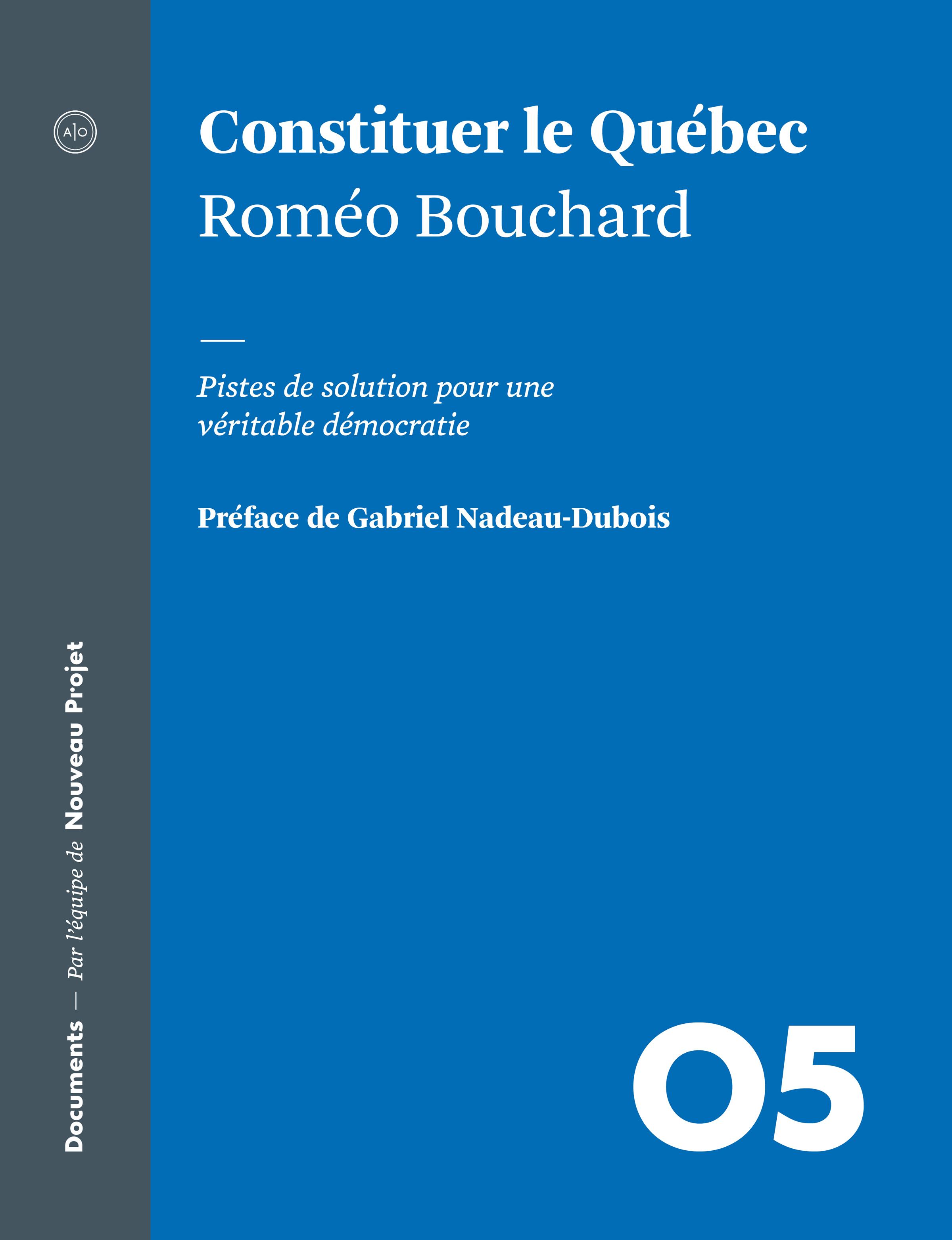 Couverture du livre de Roméo Bouchard :