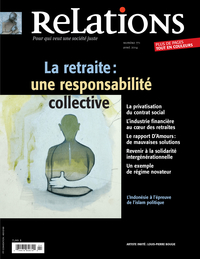 Image de couverture (Relations. No. 771, Mars-Avril 2014)