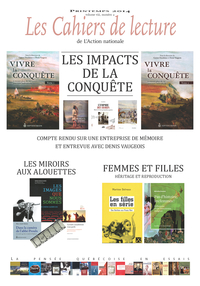 Image de couverture (Les Cahiers de lecture de L'Action nationale. Vol. 8 No. 2, Printemps 2014)
