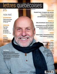 Image de couverture (Lettres québécoises. No. 154, Été 2014)