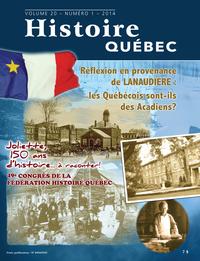 Histoire Québec. Vol. 20 No. 1,  2014
