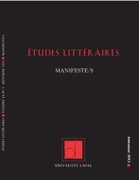 Études littéraires. Vol. 44...