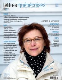 Lettres québécoises. No. 155, Automne 2014