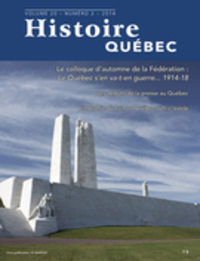 Histoire Québec. Vol. 20 No...