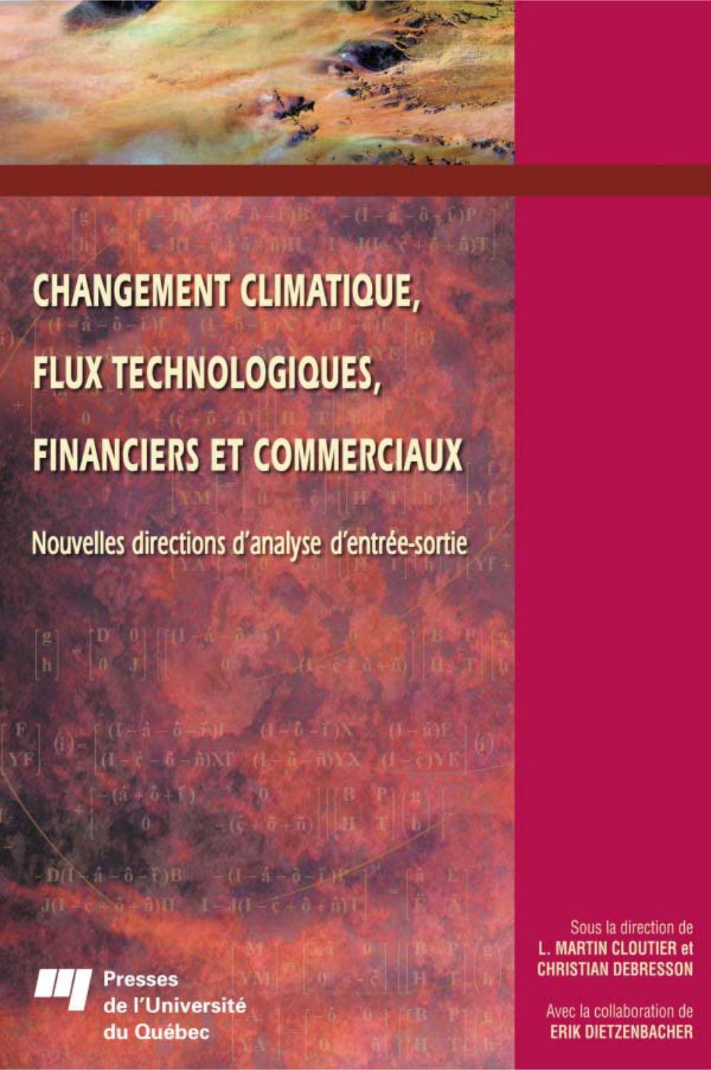 Changement climatique, flux technologiques, financiers et commerciaux