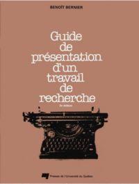 Guide de présentation d'un ...