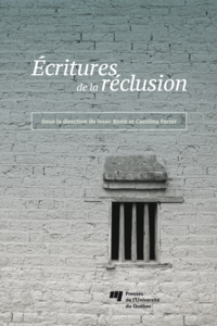 Image de couverture (Écritures de la réclusion)