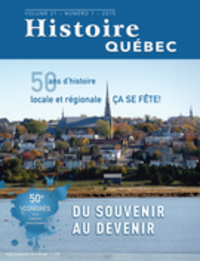 Histoire Québec. Vol. 21 No. 1,  2015