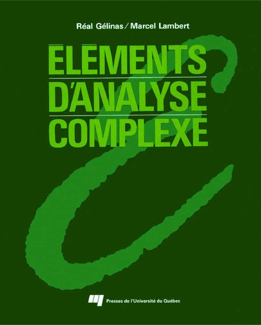 Éléments d'analyse complexe