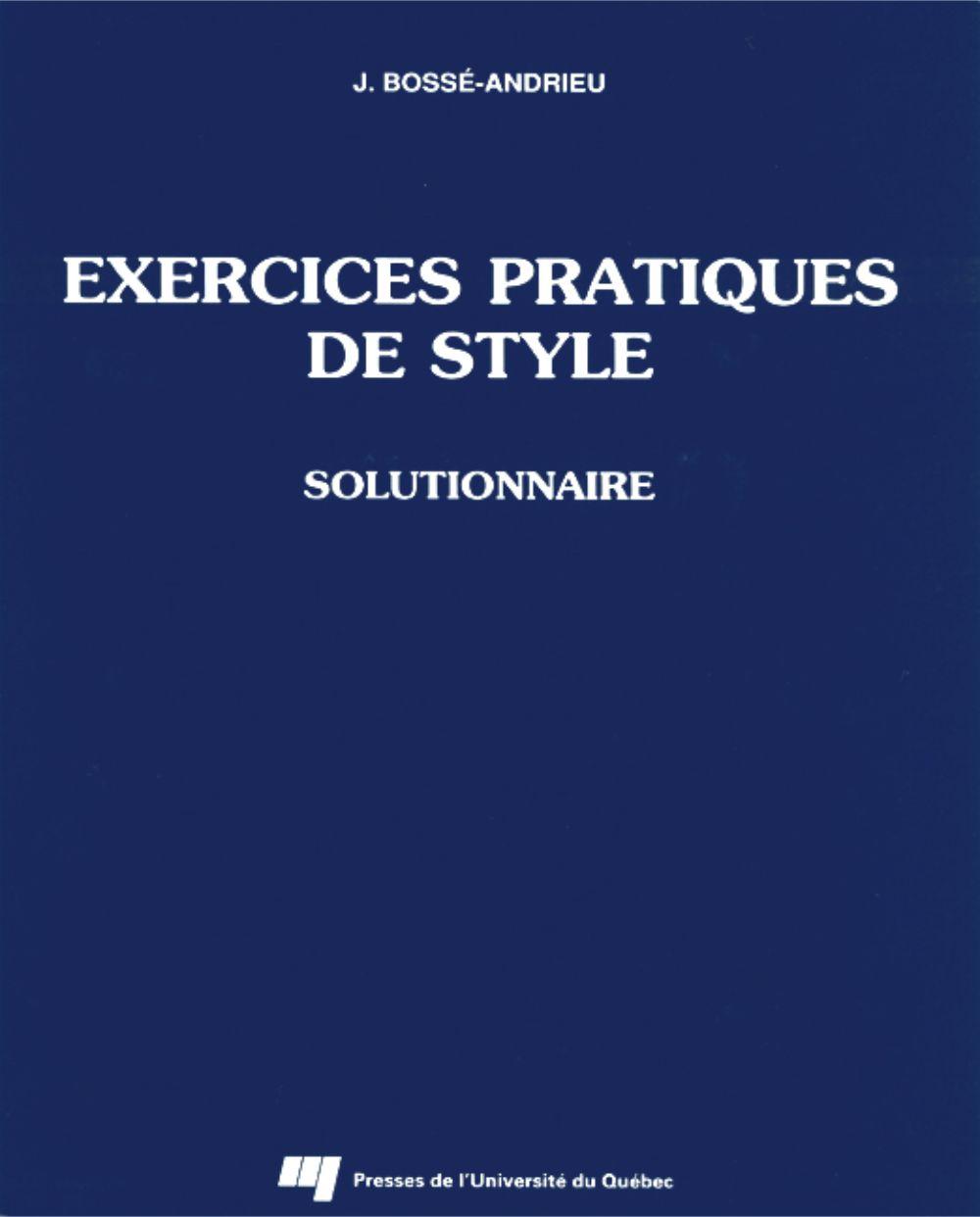 Exercices pratiques de style