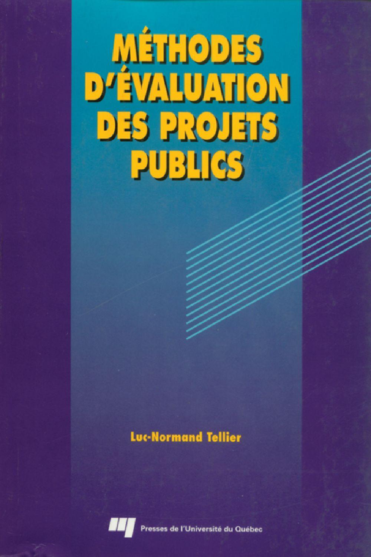 Méthodes d'évaluation des projets publics