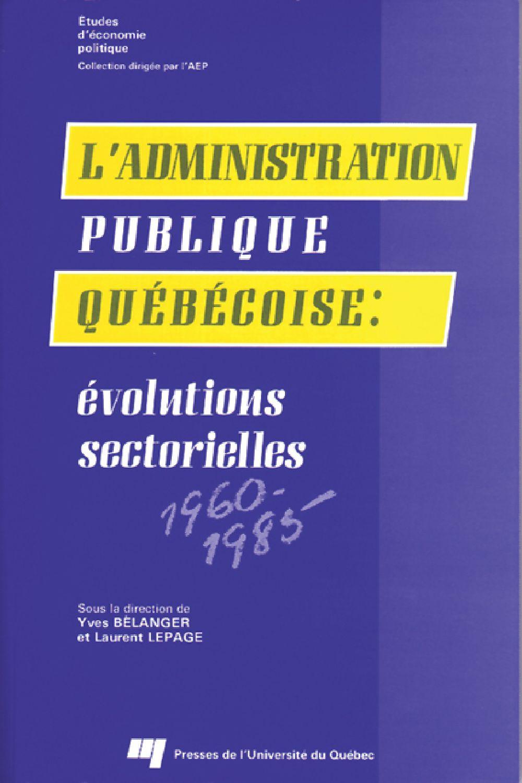 L'administration publique québécoise