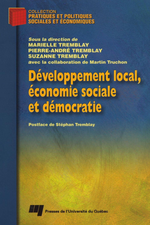 Développement local, économie sociale et démocratie