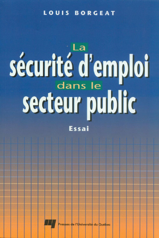 La sécurité d'emploi dans le secteur public