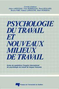 Psychologie du travail et n...