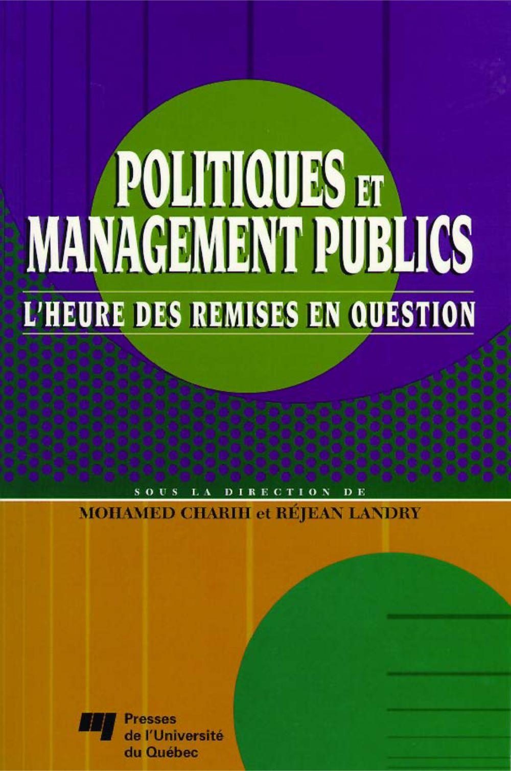 Politiques et management publics
