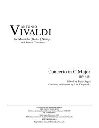 Concerto for Mandoline, strings and basso RV 425