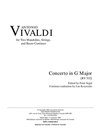 Concerto in G Major, RV 532 (2 cahiers)