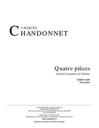 4 pièces inspirées de poèmes de Verlaine
