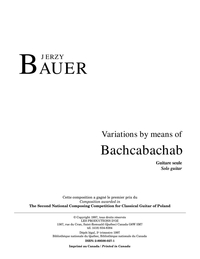 Variations by means of Bachcabachab