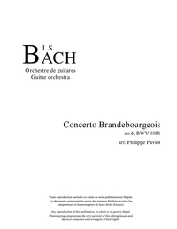 Concerto Brandebourgeois no 6 (2 livres)