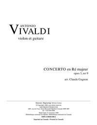Concerto en Ré majeur, opus 3, no. 9