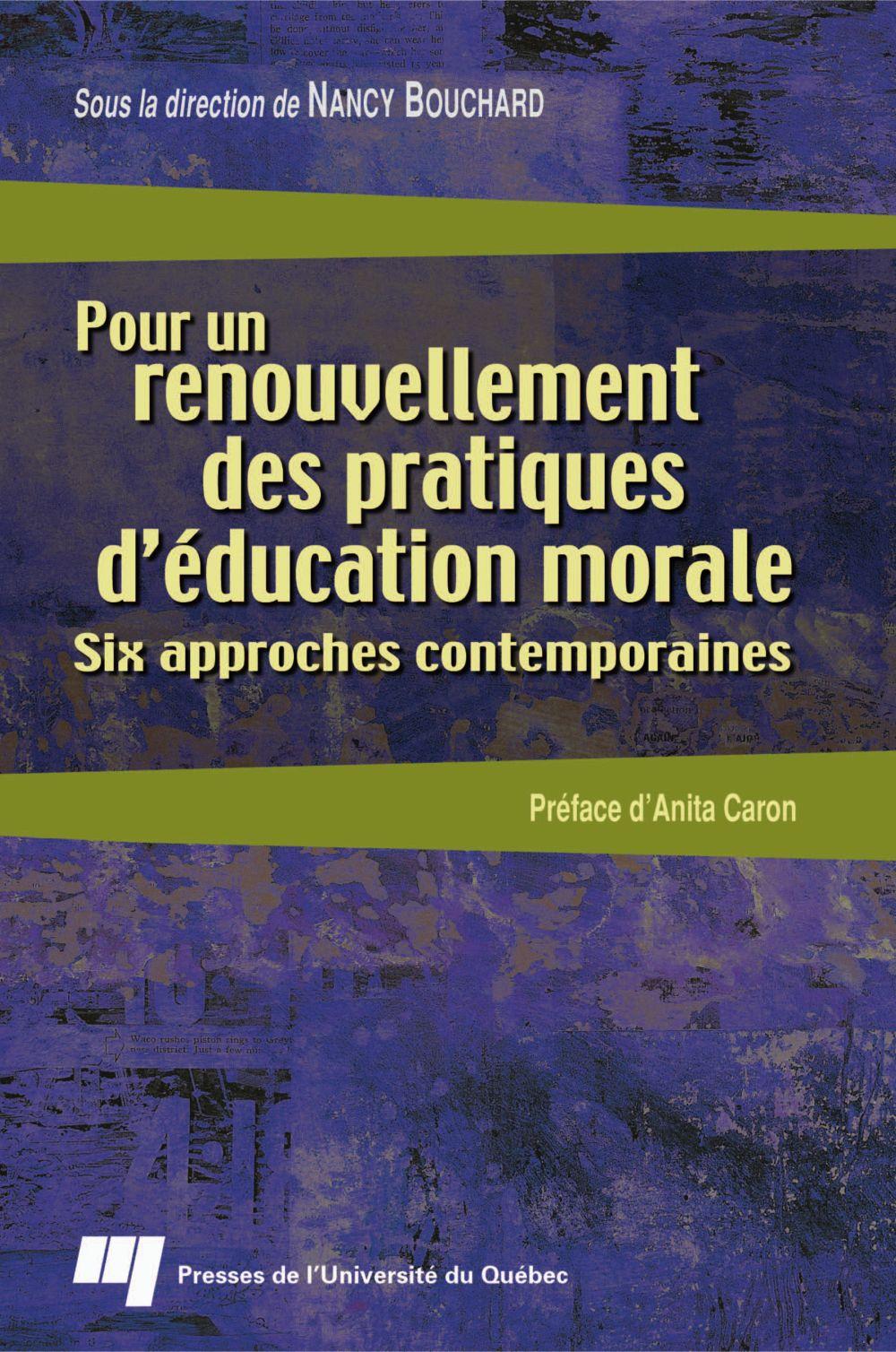 Pour un renouvellement des pratiques d'éducation morale