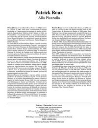 Alla Piazzolla (2 livres)