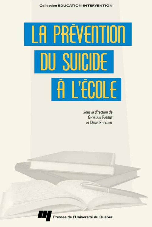 La prévention du suicide à l'école