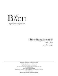 Suite française no. 5, BWV 816
