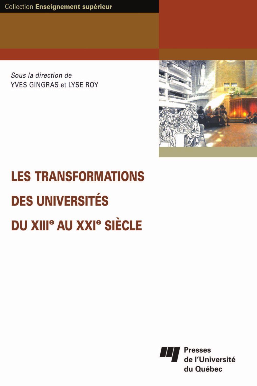 Les transformations des universités du XIIe au XXIe siècle