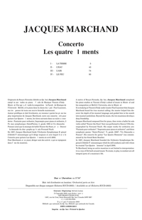 Concerto - Les 4 éléments (score)