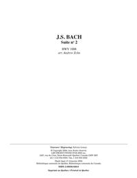 Suite no 2, BWV 1008