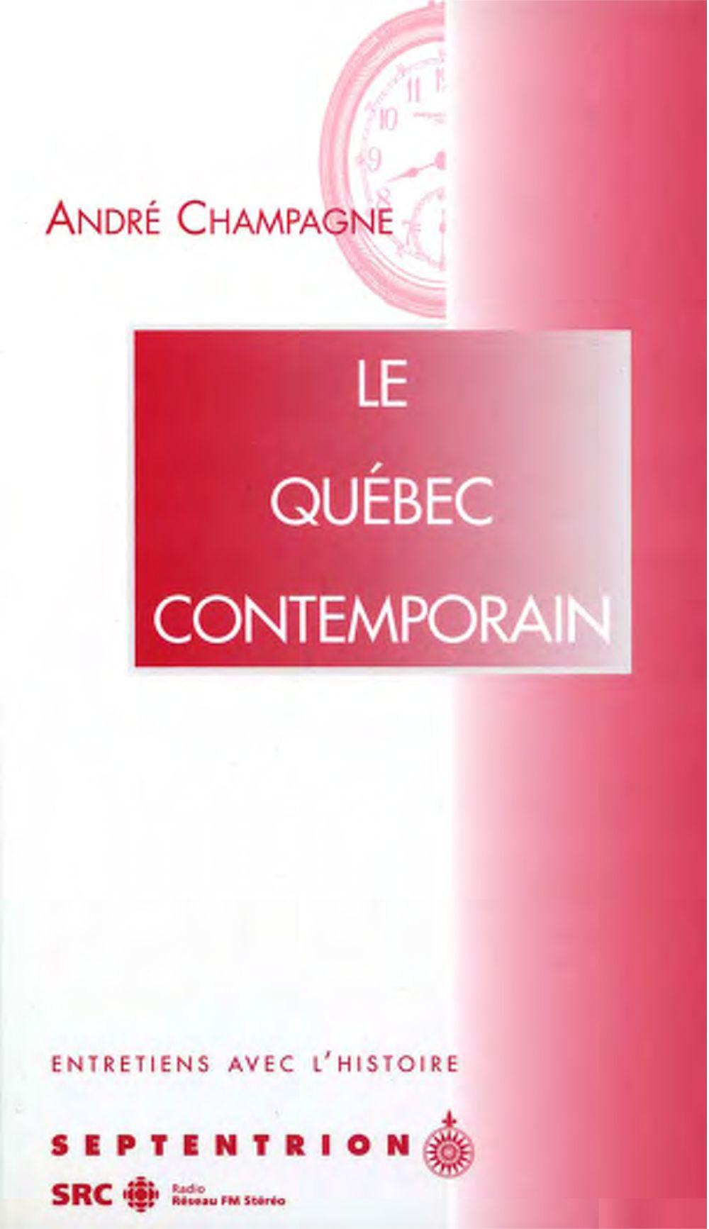 Le Québec contemporain